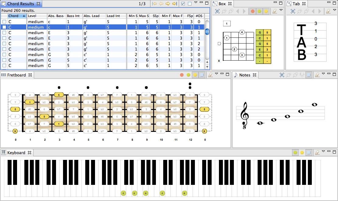 Screenshots (Mac OS X) - Chord Scale Generator