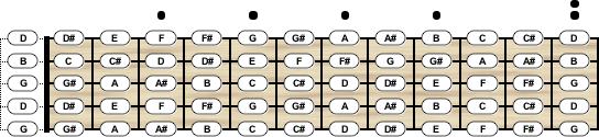 Banjo Tuning - Chord Scale Generator