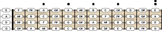Mandolin Tuning - Chord Scale Generator